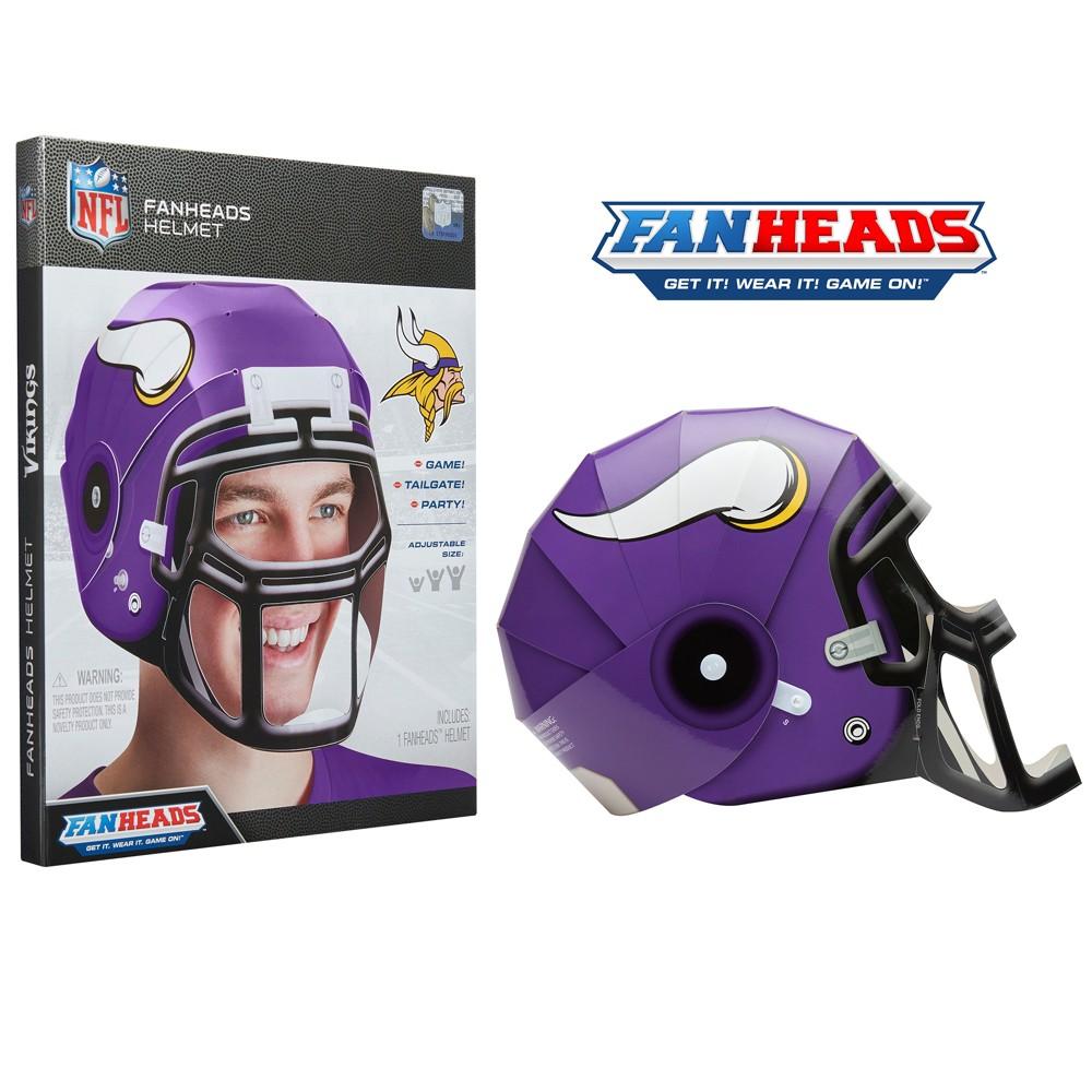 NFL Minnesota Vikings FanHeads Laminate Paper Football Helmet, Adult Unisex