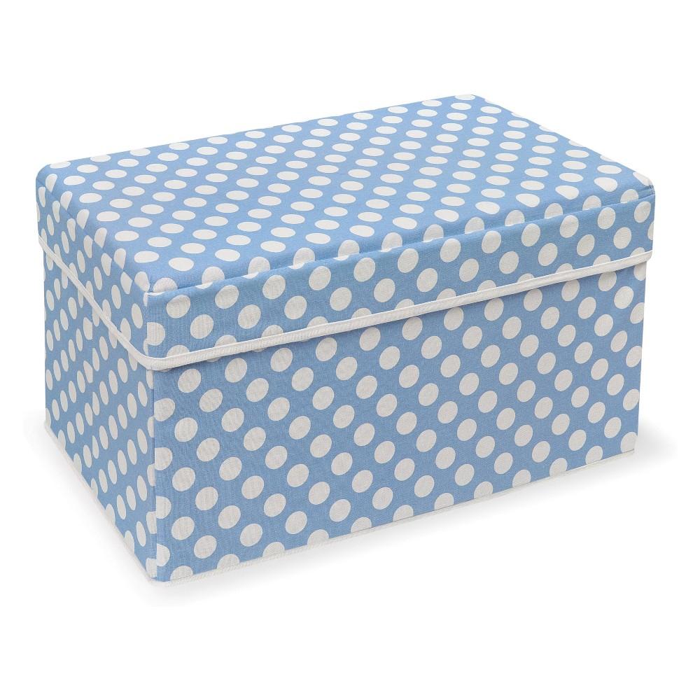 Image of Badger Basket Double Folding Storage Seat Blue Polka Dot