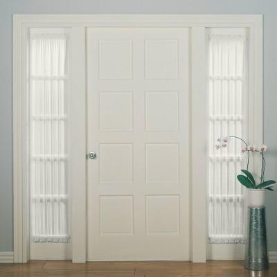 "72""x28"" Emily Sheer Voile Rod Pocket Door Sidelight Curtain Panel - No. 918"