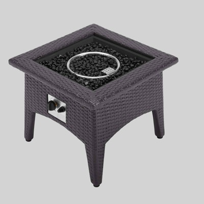 Vivacity Outdoor Patio Fire Pit Table Espresso - Modway