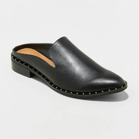 Women's Barika Studded Backless Mules - Universal Thread™ Black - image 1 of 3