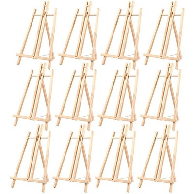 Juvale 12 Pack Mini Wood Easel Stand for Tabletop Painting, Art & Crafts Supplies, 9 x 13.5 x 10 in