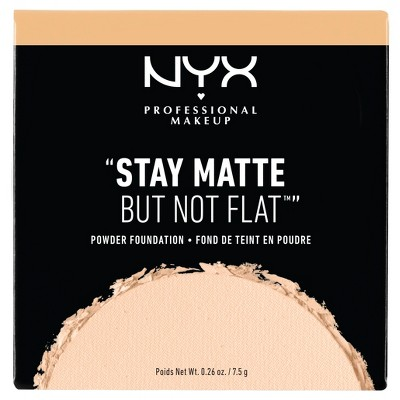 NYX Professional Makeup Stay Matte But Not Flat Pressed Powder Foundation - 0.26oz