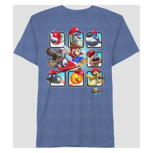 Men's Nintendo Mario Odyssey Box T-Shirt - image 1 of 1