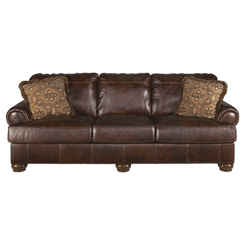 Axiom Sofa Walnut Signature Design By Ashley Target