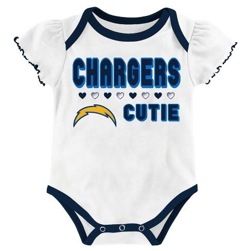 4cc9bcf1b2b Los Angeles Chargers Baby Girls' 3pk Bodysuit Set : Target