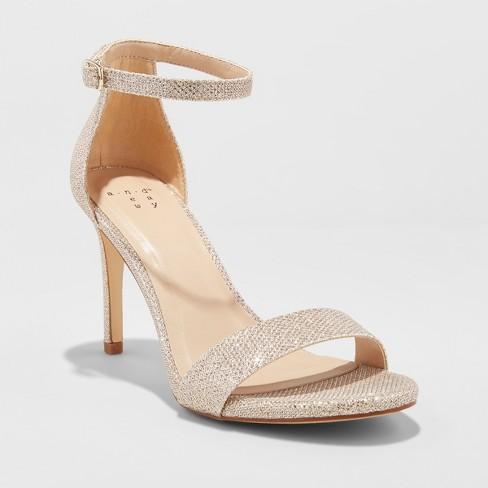 e46e823780b Women s Myla Satin Shimmer Stiletto Pump Heel Sandal - A New Day™   Target