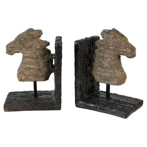 Set of 2 Rustic Horse Bookends - image 1 of 1