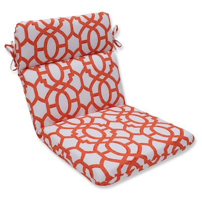 Pillow Perfect Outdoor One Piece Seat And Back Cushion - White