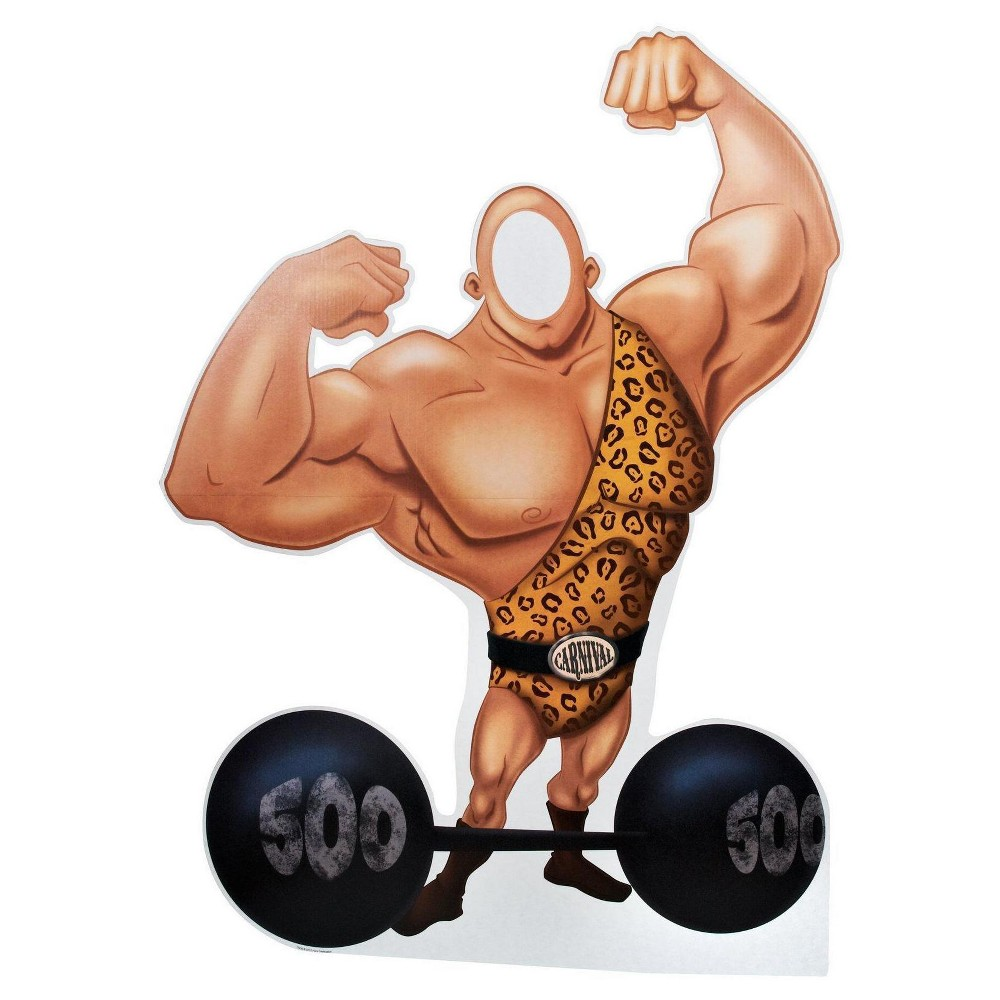 Image of Carnival Strong Man with Barbell Party Standee