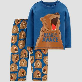 Toddler Boys' 2pc Bear Pajama Set - Just One You® made by carter's Blue 2T