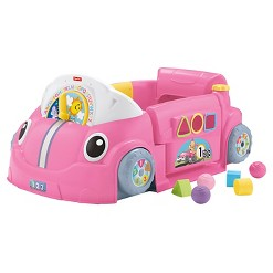 Fisher-Price Laugh & Learn Smart Stages Crawl Around Car - Pink