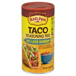 Old El Paso Taco Seasoning Mix Reduced Sodium Value Size - 6.25oz