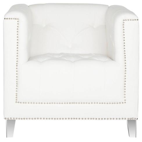 Hollywood Glam Tufted Acrylic Leg Club Chair - Safavieh® - image 1 of 4
