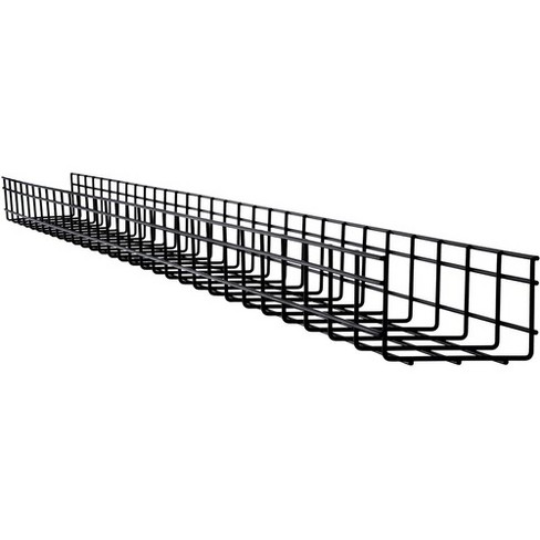Tripp Lite Wire Mesh Cable Tray - 150 x 100 x 3000 mm (6 in. x 4 in. x 10 ft.) - Black Powder Coat - Steel - image 1 of 4