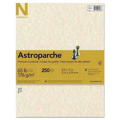 Neenah Paper Astroparche Specialty Card Stock 65 lbs. 8-1/2 x 11 Natural 250 Sheets/Pack 26428