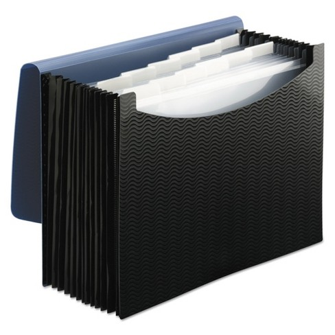 Smead Expanding File Folders, 12 Pockets, Poly, Letter, Black/Blue - image 1 of 2