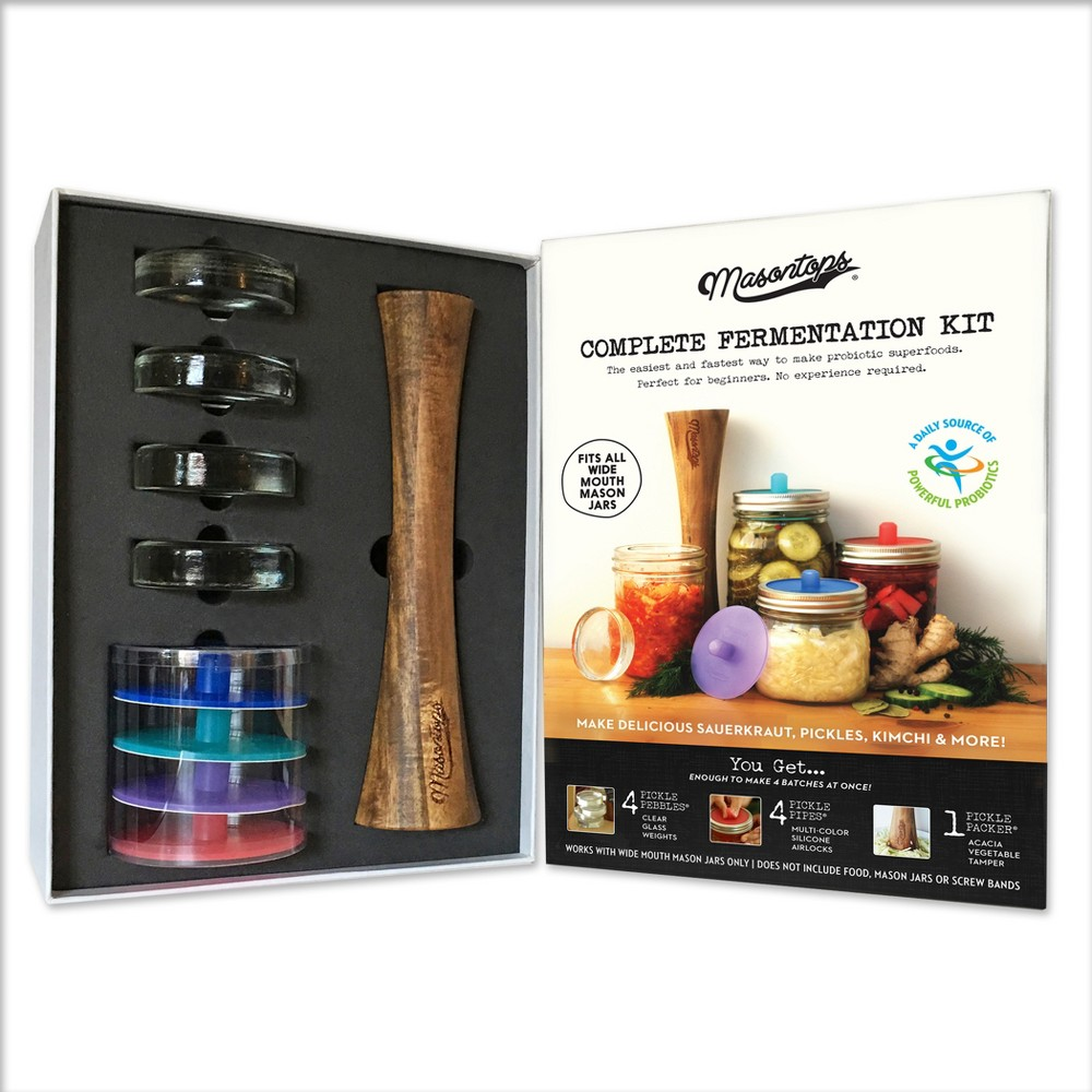 Image of Masontops Complete Mason Jar Fermentation Kit