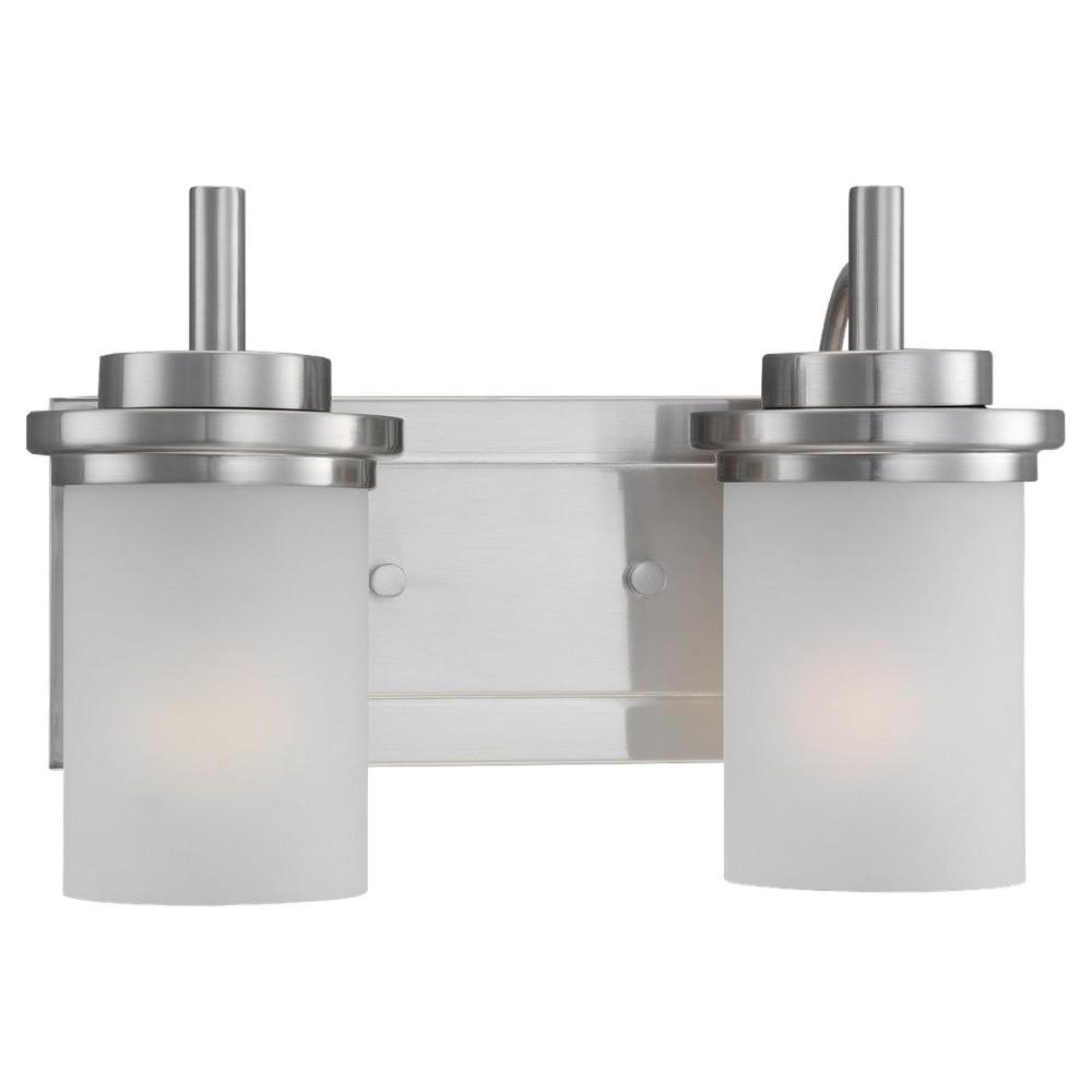 Sea Gull Lighting Two-Light Wall/Bath/Vanity - Brushed Nickel