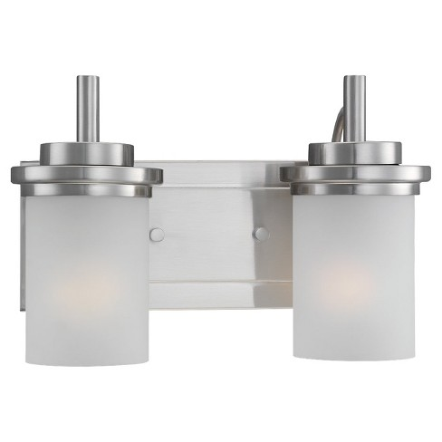 Sea Gull Lighting Two-Light Wall/Bath/Vanity - Brushed Nickel - image 1 of 2