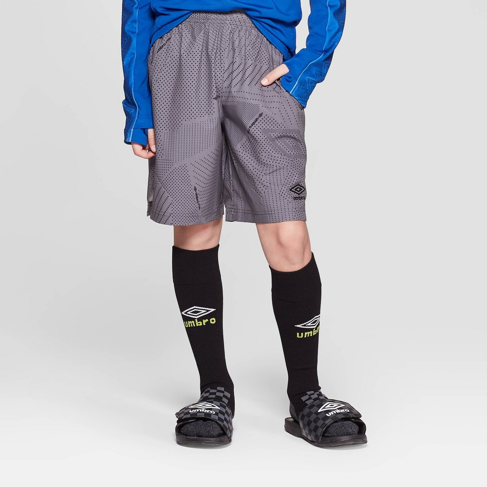 Umbro Boys' Woven Performance Shorts - Industrial Grey XS