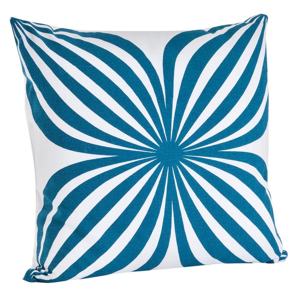 Indigo (Blue) Pinwheel Design Throw Pillow (18