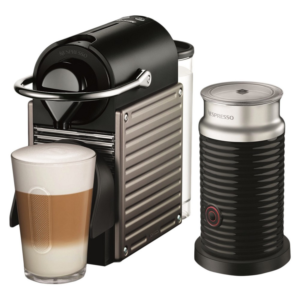 Nespresso Pixie Titan Bundle by Breville, Black/Gray 14575818