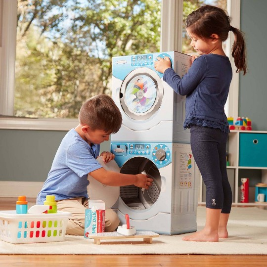 Melissa & Doug Washer/Dryer Combo Cardboard Play Set image number null