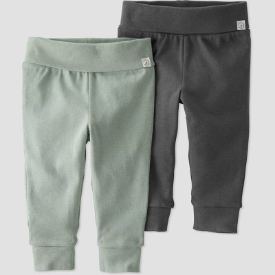 Baby 2pk Pull-On Pants - little planet by carter's Gray Newborn