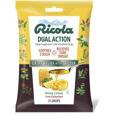 Cough & Sore Throat: Ricola Dual Action