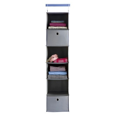 Charmant 6 Shelf Hanging Closet Organizer Gray   Room Essentials™