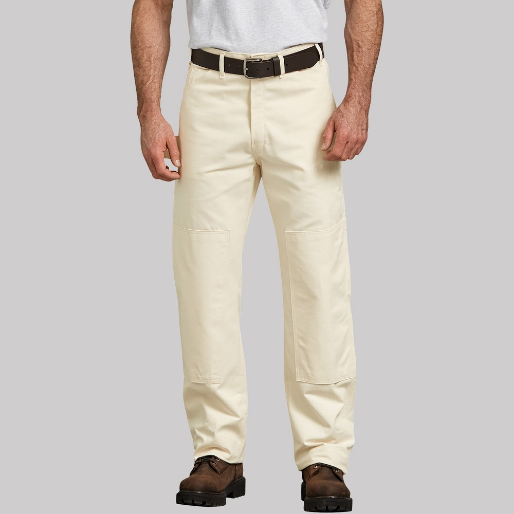 Dickies Men's Straight Fit Trousers - Off White 32x32