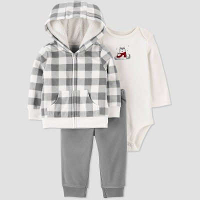 Baby Boys' Buffalo Top & Bottom Set - Just One You® made by carter's Gray Newborn