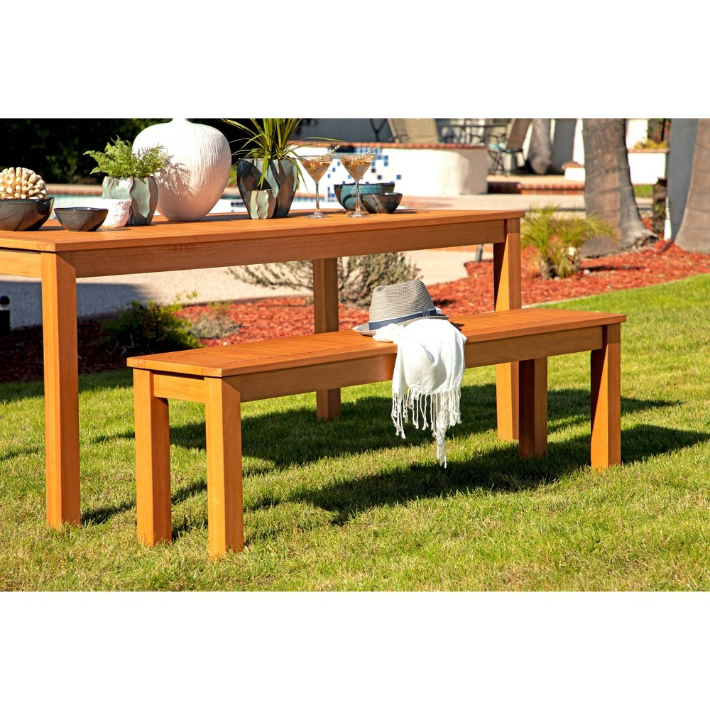 Tanner Outdoor Wood Bench Natural Coaster