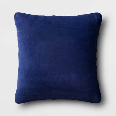 Square Velvet Pillow Navy - Room Essentials™