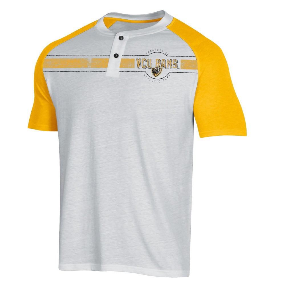 NCAA Men's Raglan Henley T-Shirt Vcu Rams - L, Multicolored