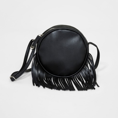 e23a535efa Girls  Fringe Canteen Crossbody Bag - Art Class™ Black   Target