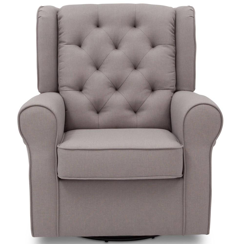 Image of Delta Children Emma Nursery Glider Swivel Rocker Chair - French Gray