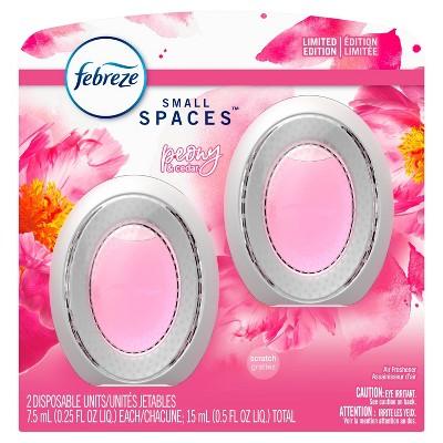 Febreze Odor-Eliminating Small Spaces Air Freshener - Peony & Cedar - 2ct/0.5 fl oz
