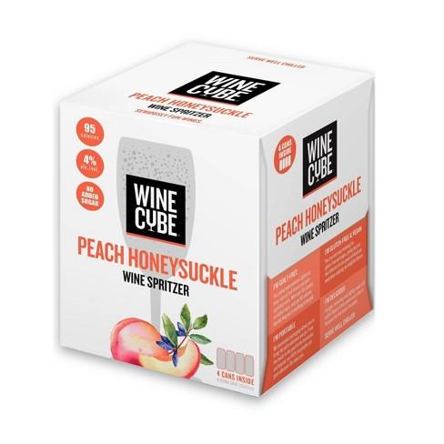 Peach Honeysuckle Wine Spritzer - 4pk/250ml Cans - Wine Cube™ - image 1 of 2