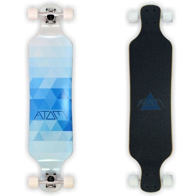 MBS 40020 Atom Drop Through 39-Inch Maple Longboard Skateboard Cruiser, Blue Triangles