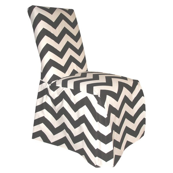 Surprising Black White Chevron Dining Chair Slipcover Andrewgaddart Wooden Chair Designs For Living Room Andrewgaddartcom