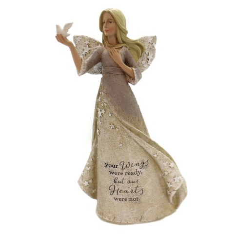 Bereavement Sympathy Angel Figurine with Star by Foundations 9 Inches High