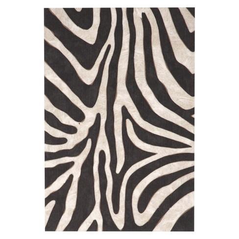 Black Zebra Print Pressed Molded Accent