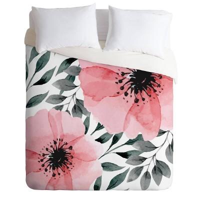 Marta Barragan Camarasa Big Flowers Duvet Cover & Sham Set - Deny Designs