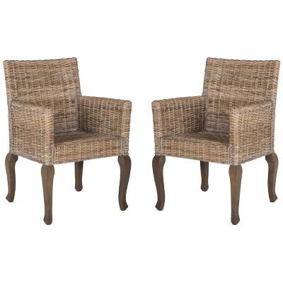 Set Of 2 Armando Wicker Dining Chair Safavieh Target