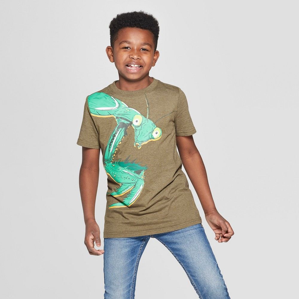 Boys' Bug Short Sleeve Graphic T-Shirt - Cat & Jack Olive M, Green