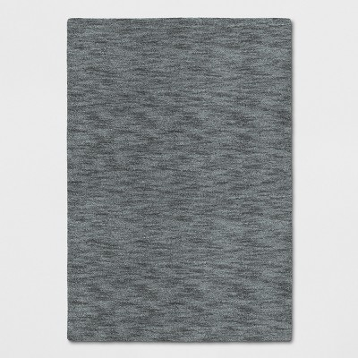 Radiant Gray Heathered Woven Spacedye Design Area Rug 5'X7' - Project 62™
