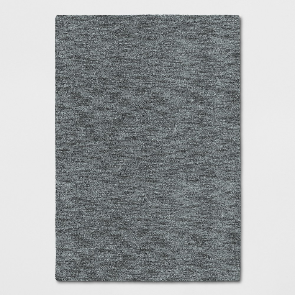 Radiant Gray Heathered Woven Spacedye Design Area Rug 5'X7' - Project 62
