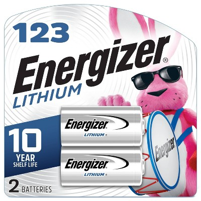 Energizer 2pk 123 Batteries Lithium Photo Battery